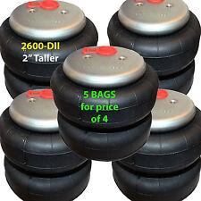 "set of 5 air lift bags 2"" TALLER 2600 D-II  1/2"" Fittings ride springs bags"