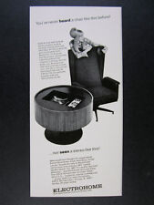 1967 Electrohome CIRCA 703 Cabinet Stereo & 704 Sound Chair vintage print Ad