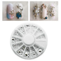 3D Metal Nail Art Decoration Ocean Accessories Silver Shell Conch