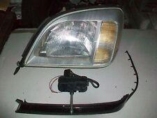 1996 MERCEDES S500 LEFT DRIVERS XENON HEADLIGHT -Wiper motor & Trim TESTED #SSS+