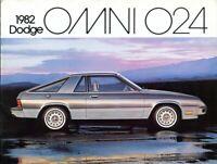 Dodge Omni 024 Miser Charger 2.2 1982 Canadian market sales brochure
