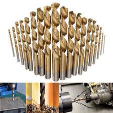 19PCS Titanium Coated HSS Twist Drill Bit Set for Metal Power Tools Accessories