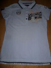 schönes Damen Shirt Poloshirt SOCCX in der Gr. M 38 hellblau aus Baumwolle