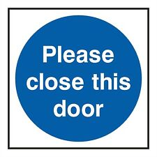 1x please close this door sticker warning for Home Hotel work shop