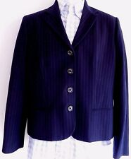 Chaps Womens Blazer 12 New Nwt Blue Pinstripe Navy Sport Jacket Striped Career