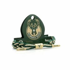 Rastaclat NBA Milwaukee Bucks Green Tan Basketball Shoelace Bracelet RC001MWB
