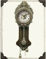 Victorian Trading Co Provencal Primrose Pendulum Wall Clock Free Ship NIB