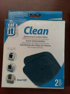Cat It Clean 2 pack Replacement Carbon Filters #50705 for All Hooded Cat Pans