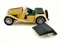 1947 MG TC MIDGET YELLOW 1:18 DIECAST MODEL CAR BY ROAD SIGNATURE 92468