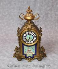 Antique French Mantle Clock Japanese Decoration Sevres Porcelain Time