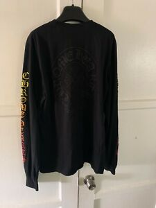 Chrome Hearts Men's Black Round Neck Long Sleeves T-shirt Size US L / EU 52-54