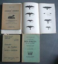 CHASSE. 4 ouvrages sur la Chasse. Dresseur, Garde, Nuisibles. 1939.