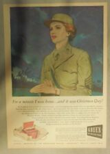 Gruen Watch Ad: For One Minute I Was Home....! Tabloid Page from 1940's