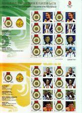 China PRC 2008 Mi.Nr. 3992 Deutsche Olympiasieger 4 Kleinbogen Olympic ** MNH