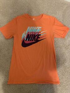 Women's NIKE Dri-Fit TShirt size Small Athletic Cut Orange