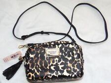 New! Leopard Print Crossbody Bag VICTORIA'S SECRET Wristlet Mini Makeup Purse!