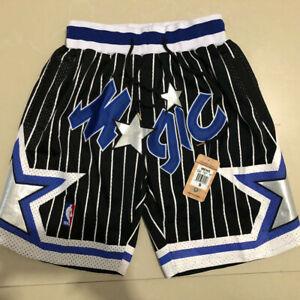 Vintage Orlando Magic BLACK Basketball Shorts Men's Pants NWT stitching