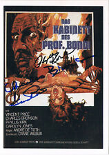 Vincent Price 1911-93 & Phyllis Kirk 1927-2006 autograph signed House of Wax