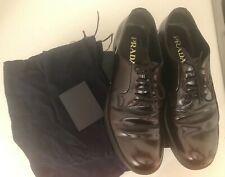 Men's Authentic Prada Brown Derby Shoe.  Size 7 (UK)