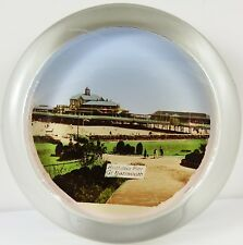 Antique c1900 Glass Pictorial Paperweight Brittania Pier Great Yarmouth