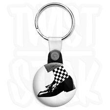 2-Tone Dance Craze - 25mm Rude Boy, Ska Keyring Button Badge, Zip Pull Option