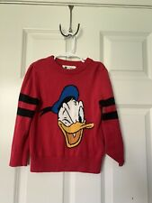 Baby GAP Kids Disney Donald Duck Pullover Red Sweater Size 4