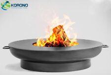 Korono Fire Bowl Ø 80cm Diameter with Steel Grill Plate, Handmade