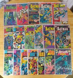 Batman Lot of 18 DC Comic books Silver/Bronze age Low Grades