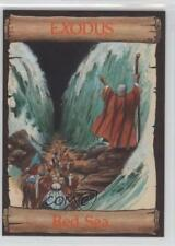 1989 re-Ed Bible Cards Exodus #3 Red Sea Non-Sports Card 0q3