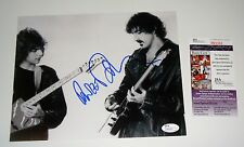 Dweezil Zappa Signed b/w 8x10 PHOTO old school with Dad Frank JSA CERT FREE SHIP