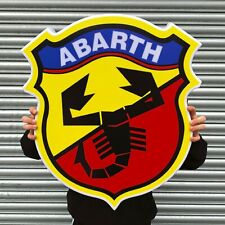 ABARTH 1969-2007 BADGE LED ILLUMINATED LIGHT BOX GARAGE PETROL GAS & OIL FIAT