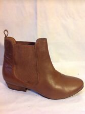 Asos Brown Ankle Leather Boots Size 4