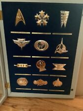 1993 FRANKLIN MINT STAR TREK 12 INSIGNIA BADGE COLLECTION .925 STERLING SILVER