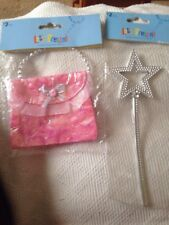 Lets Pretend, Fairy Princess Wand And Bag/purse. Dressing Up. Bnip