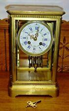 Antique French Marti Bronze Regulator Mantel Clock