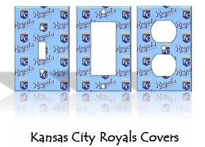 Kansas City Royals #2 Light Switch Covers Baseball MLB Home Decor Outlet