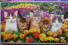 New 300 Piece Jigsaw Puzzle (Kittens in the Flowers) Animals Puzzlebug