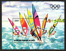 Congo, Peoples Republic Stamp - 84 Summer Olympics--Wind surfing Stamp - NH