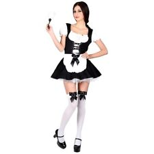 Ladies FLIRTY FRENCH MAID Fancy Dress Sexy House Cleaner Costume UK Sizes 6-24