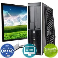 HP Desktop Computer 8300 Elite PC Win 10 Intel i5 Quad Core 500GB 8GB 22 Monitor