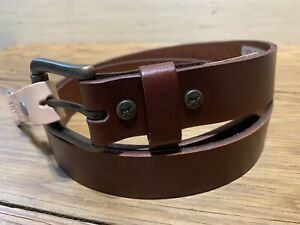 Will Leather Goods Classic Saddle Leather Belt Brown Size 38