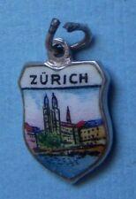 shield silver charm Vintage Zurich Switzerland