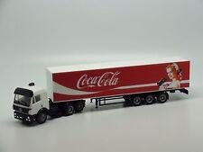Mercedes Benz Truck /w Coca-Cola Trailer Girl. AMA 1/87 HO Scale
