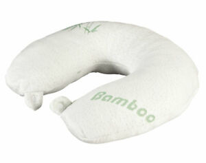 Memory Foam Neck Pillow with Bamboo Cover