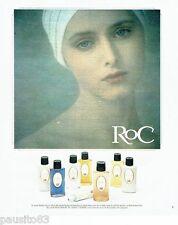 PUBLICITE ADVERTISING 116  1978  ls produits  cosmétiques Roc Sarah Moon?