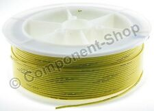 14AWG YELLOW Silicone Wire 1m. Super flexible high temperature. UK seller