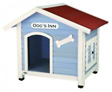 Trixie natura Hundehütte Dog's Inn mit Satteldach M–L: 107 × 93 × 90 cm hellblau