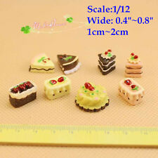 1:12 Dollhouse Miniature Cake Toy Food Doll House Accessory Assorted Lot 8 cakes