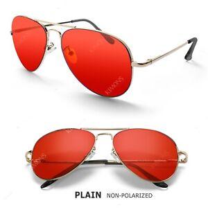 Polarized Aviator Sunglasses For Women Men Vintage Sports Driving Metal Gradient