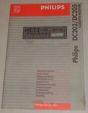 Betriebsanleitung Philips Autoradio DC315 / DC342 / DC202 / DC205 Stand 04/1994